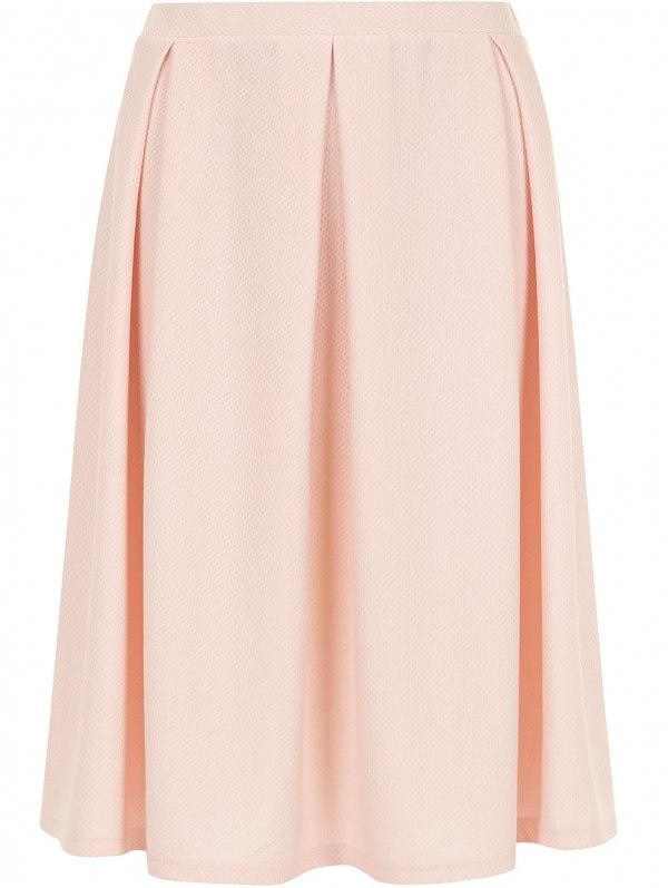 Dorothy Perkins Blush Textured Midi Skirt