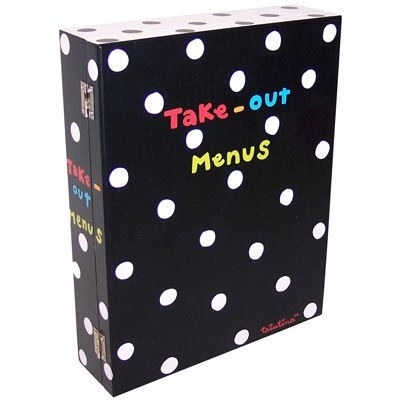 Make a Box or Folder for Take-out Menus from Various Places around School