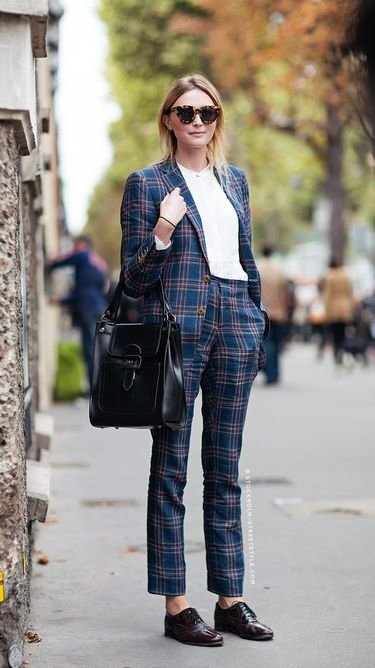 Plaid Suit and Oxfords