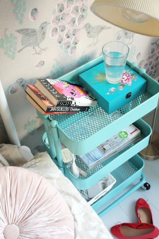 Use a Cart as a Bedside Table