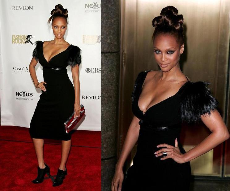 Tyra Banks Clothing Line: The Black Dress, 2007 Fashion Rocks