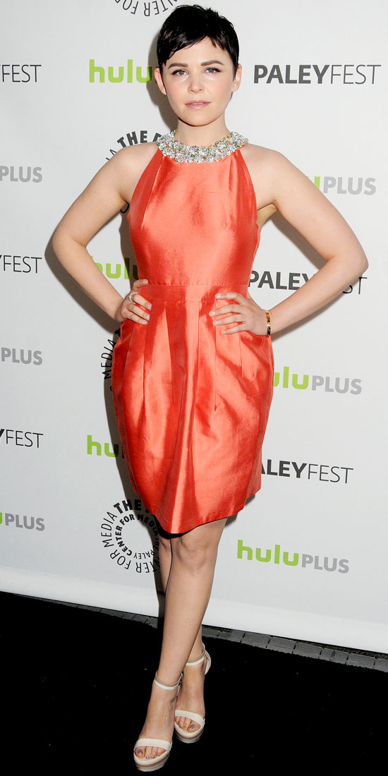 Ginnifer Goodwin - 10 Celebrities in Little Orange Dresses – Who…