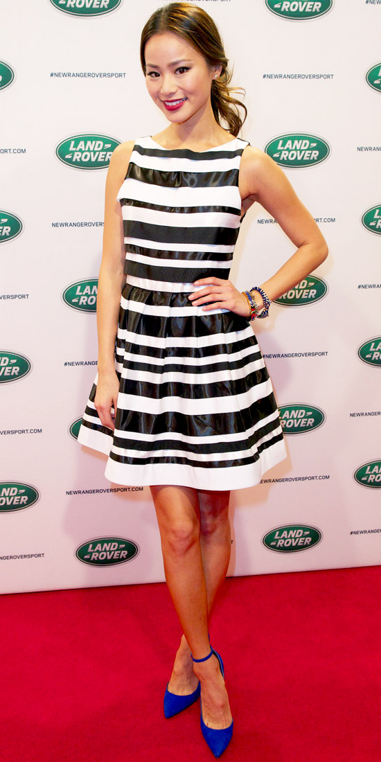 10 Celebrities Wearing Striped Dresses – Who Wore It Best? ... → 👑…