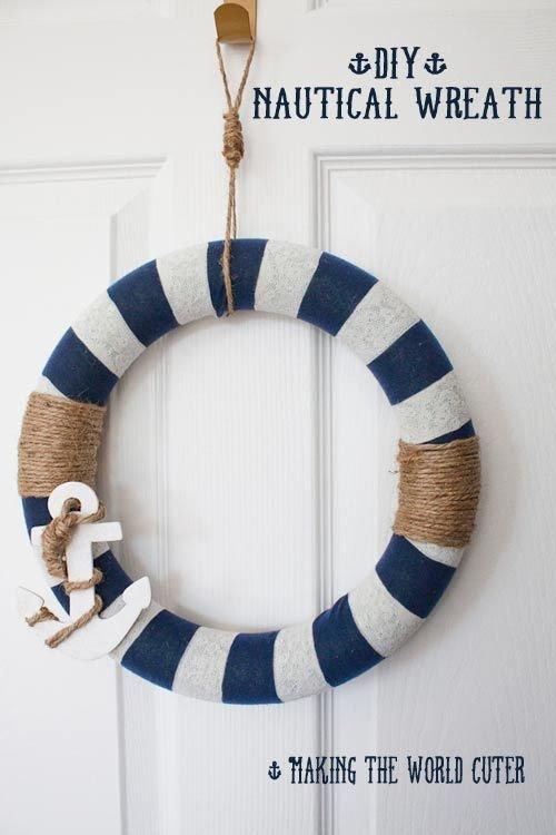 Make a Wreath with Yarn and Twine