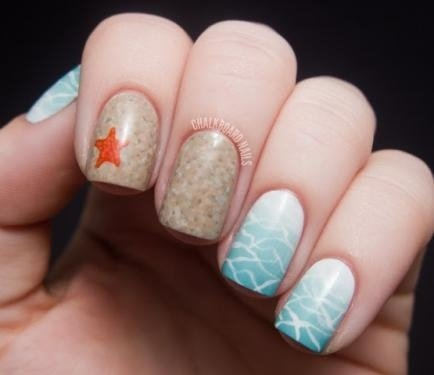 Beach scene nails 28 super cute ideas for summer nail art beach scene nails prinsesfo Gallery