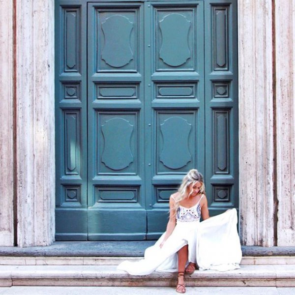 color, woman, structure, window, door,