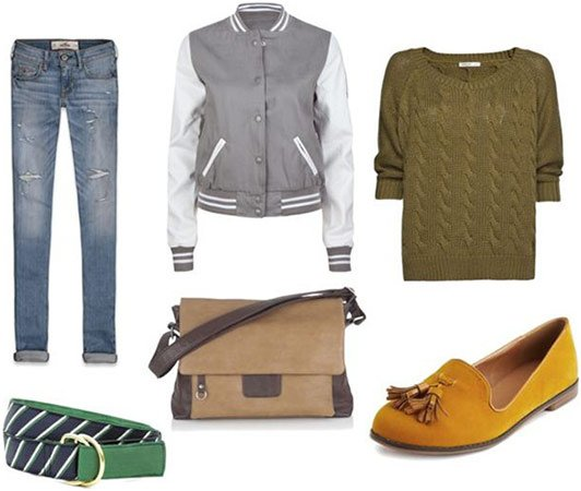 Cable Knit Sweater and Loafers