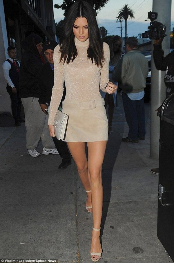 High-Neck Mini Dress - A Look at Kendall Jenneru0026#39;s Best Outfits ofu2026