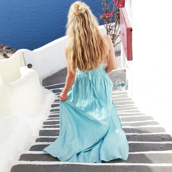 clothing, turquoise, hairstyle, dress, costume,