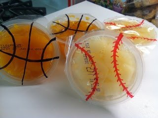 Sport Themed Fruit Cups