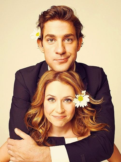 "John Krasinski & Jenna Fischer on ""the Office (US)"""