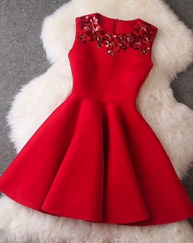 teen red cheap dress
