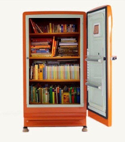 Convert a Fridge into a Bookcase