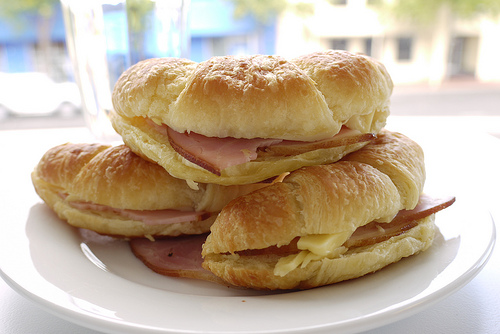 Cheese and Ham Croissant Recipe