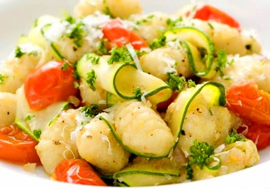 Gnocchi with Zucchini and Brown Butter