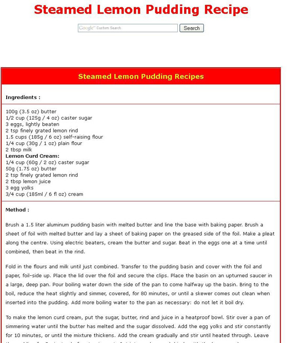 Steamed Lemon Pudding - 8 Divinely Delicious Winter Desserts ... …