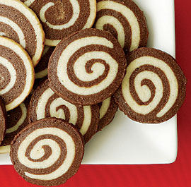 {{Pinwheel Cookies http://www.bbcgoodfood.com/recipes/4991/black-and-white-pinwheel-cookies}}