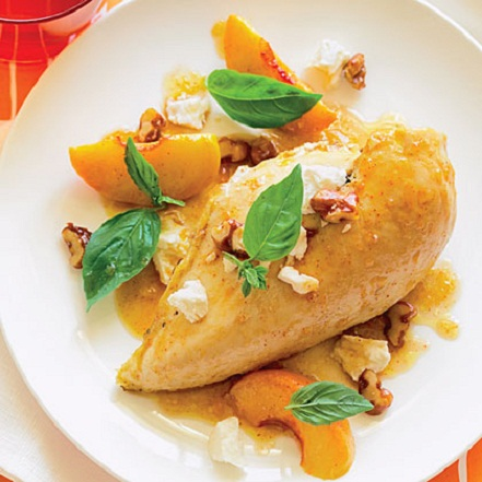 Peach and Walnut Chicken Summer Recipe...