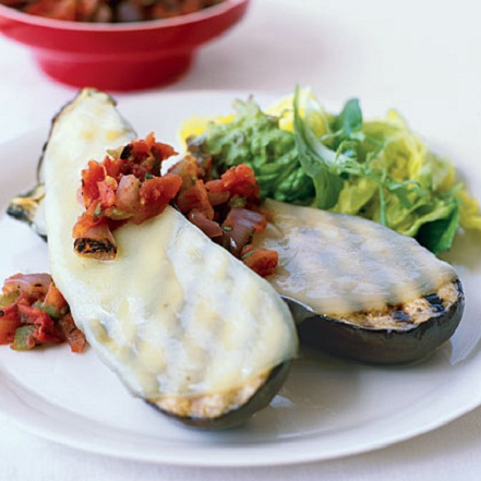 Grilled Eggplant Provolone Summer Recipe...