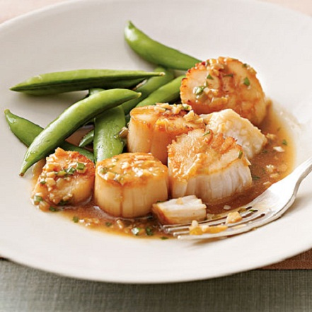 Sesame Sauce Scallops Summer Recipe...