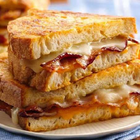 Bacon Battered Grilled Cheese Recipe...