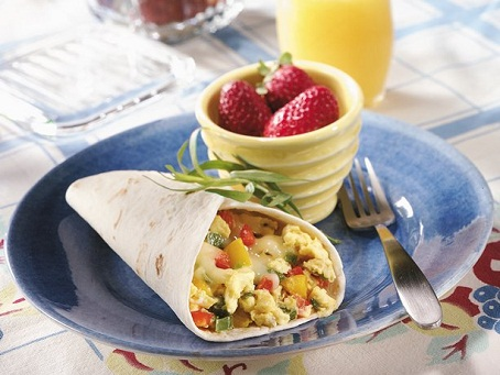 Egg and Pepper Breakfast Burrito...