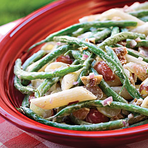 Green Bean, Grape, and Pasta Salad