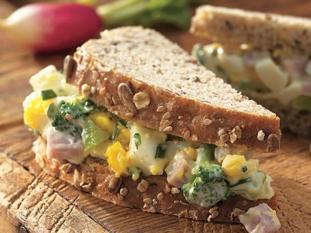 Ham and Egg Salad Sandwich...