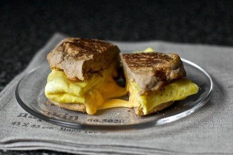 A Lazy Fried Egg and Cheese Sandwich...