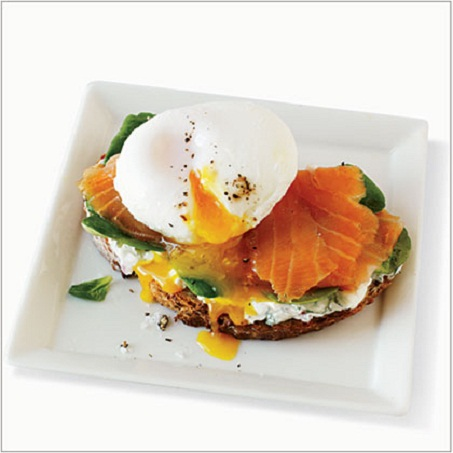 Smoked Salmon and Egg Sandwich...
