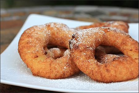 Batter Fried Apple Rings
