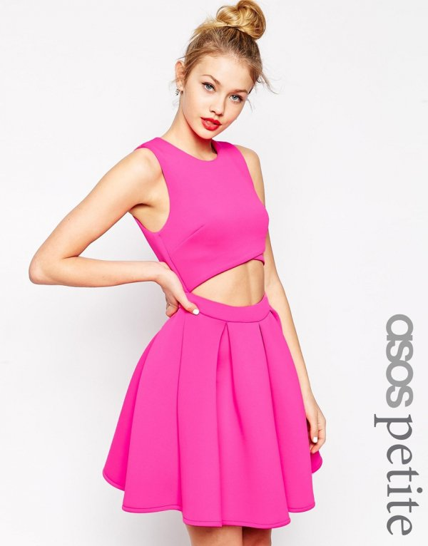 Asos Cutout Skater Dress