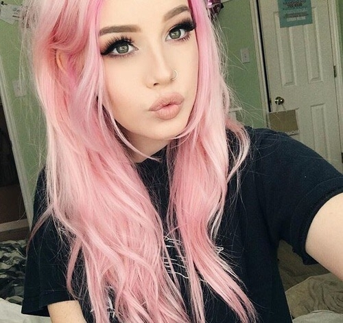 hair, color, blond, pink, hairstyle,