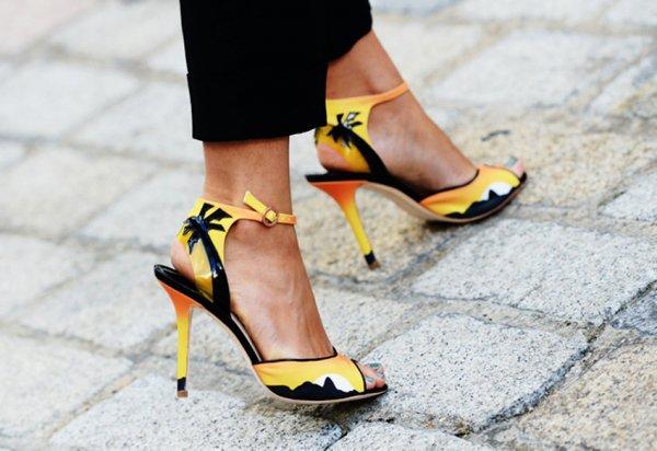 footwear,color,yellow,high heeled footwear,shoe,