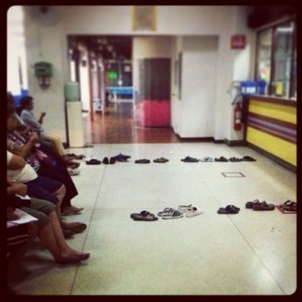 Let Your Shoes Take Your Place in Line
