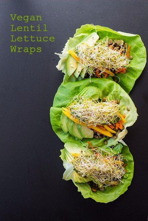 Vegan Lentil Lettuce Wraps
