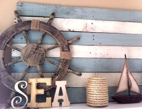 Use a Wooden Pallet as a Backdrop for Your Sea Accessories