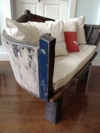 Upcycle a Boat into a Bench