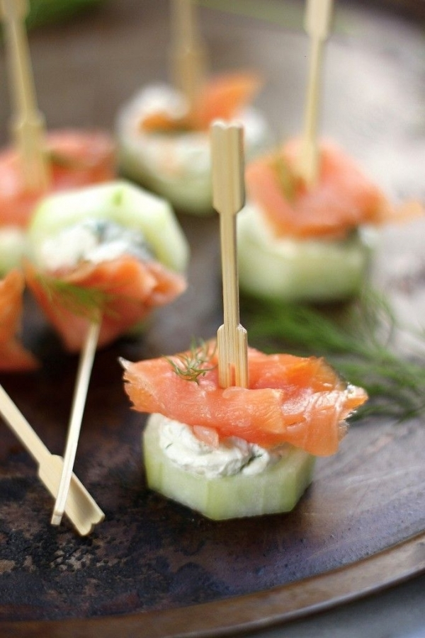 34. Smoked Salmon and Cream Cheese Cucumber Bites - 40 Party…