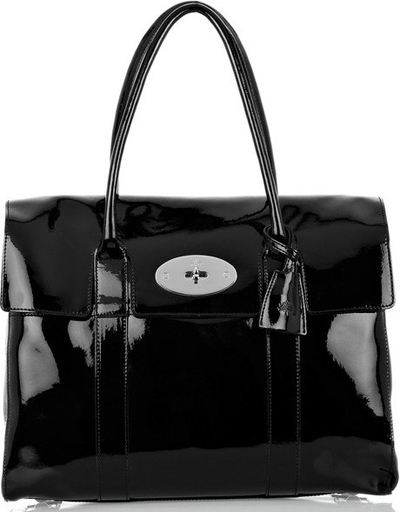 Mulberry Bayswater Patent Leather Laptop Bag