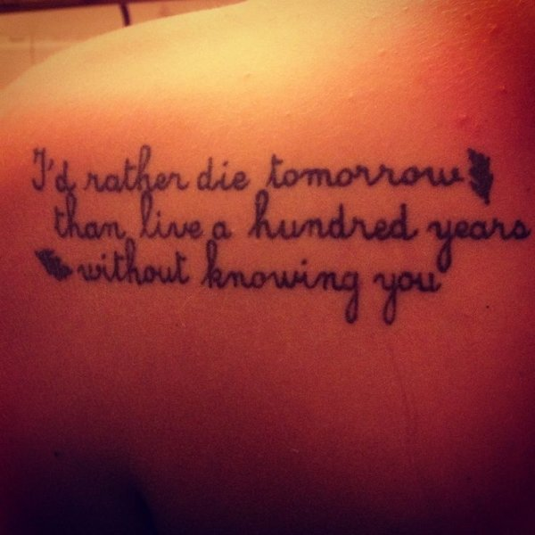 47 Inspiring Quote Tattoos That Will