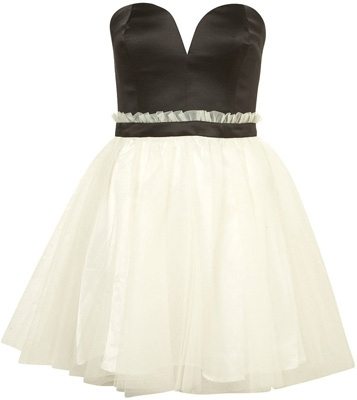 Topshop Dress up Bandeau Prom Dress