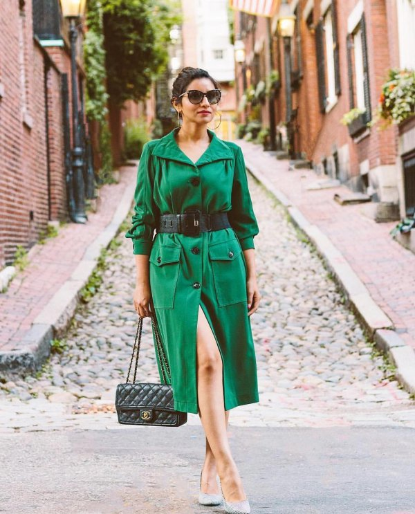 clothing, green, coat, fashion model, trench coat,