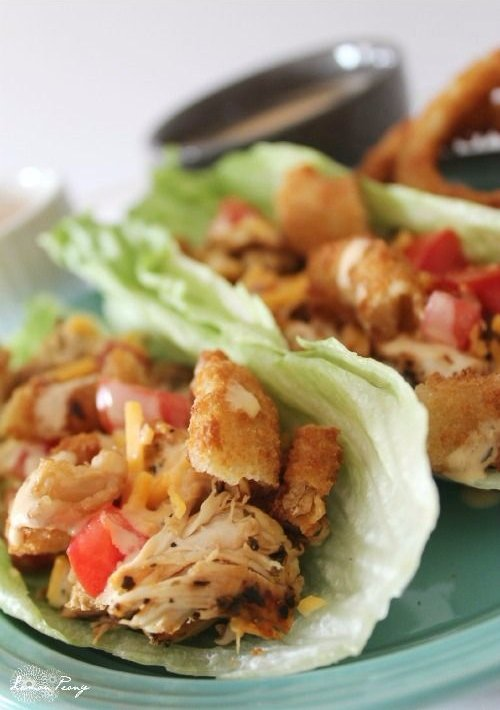 Zesty Italian Chicken Lettuce Wraps