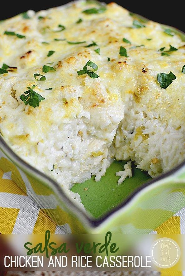 Salsa SALSA Gluten Verde pollo e riso per casseruola