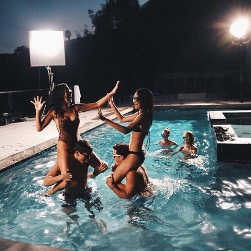 swimming pool, synchronized swimming, sea, water park,