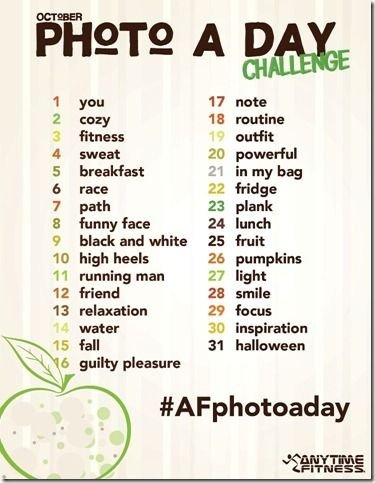 Anytime Fitness' October Photo Challenge