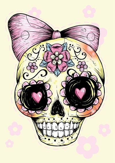 2 Cute And Girly 29 Downright Awesome Sugar Skulls You
