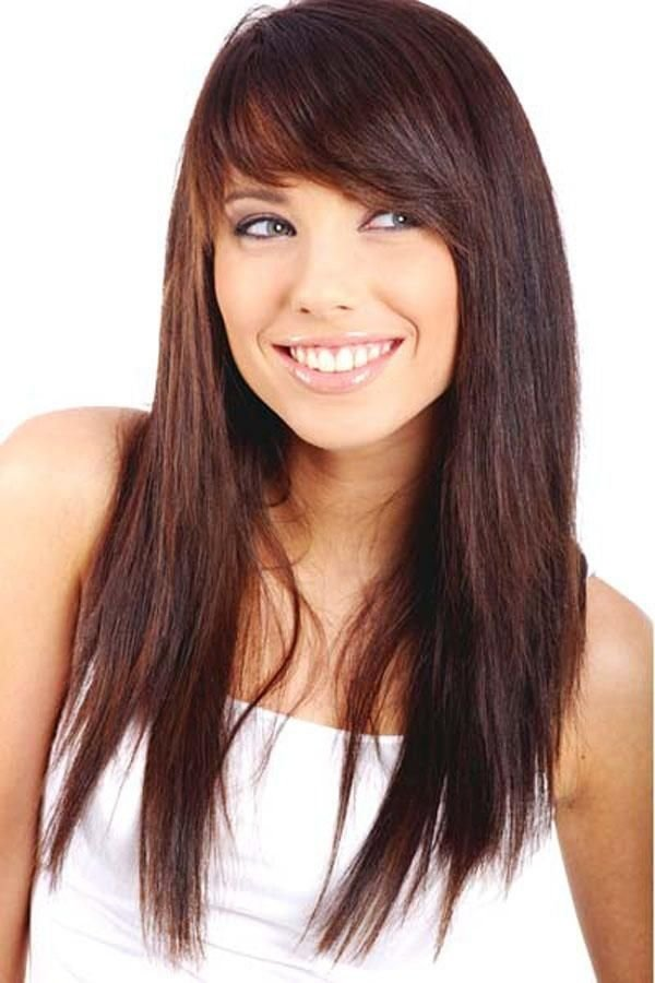 Tremendous 11 Sideswept Bangs 27 Flattering Hairstyles For Round Faces Short Hairstyles For Black Women Fulllsitofus