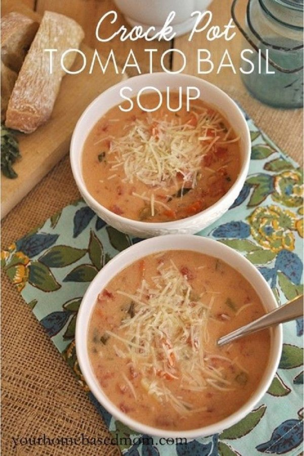 Crock Pot Tomato Basil Soup - Create These Crockpot Meals to…